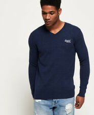 Superdry Pullover Men Orange Label Vee Dull Navy S