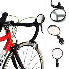 práctico Negro Bicicleta Manillar CONVEXO Side Espejo Retrovisor Ajustable RS