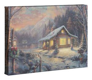 Thomas Kinkade Holiday Tradition 10 x 14 Wrapped Canvas