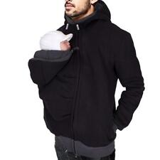 3 In 1 Kangaroo Sweatshirt Jacket Men's Dad and Baby Carrier Coat Hoodies Xmas!