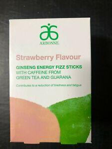 Arbonne Ginseng Energy Fizz Sticks - Strawberry Flavour 30 stick pack