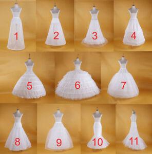 Wedding Petticoat Bridal Gown Hoop Crinoline Prom Underskirt Fancy Skirt Slip