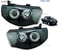 Led Black Head Lamp Lights Projector For Mitsubishi L200 Triton Strada 2006 2013