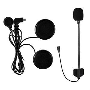 Soft+Hard Mic Headset Headphone For Motorcycle Helmet Bluetooth Intercom FDCVB