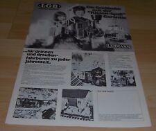 Prospetto diversità foglio LGB Lehmann grande treno giocattolo modello Ferrovie Treno egli 1980