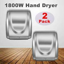 2Pcs 1800W Electric Stainless Steel Commercial and Household Auto Hand Dryer