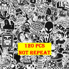 120 Black White Motorcycle Sticker Bomb Graffiti Skateboard Luggage Laptop Decal