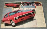 "1970 Chevy Nova SS Pro Street Vintage Article ""Smooth Operator"""