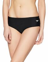 Speedo Womens Swimwear Black Size 12 Endurance Lite Swimsuit Bottom $40 784