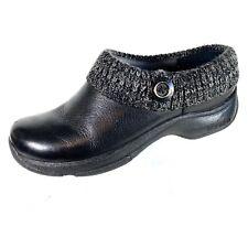 Dansko Kenzie Women's Mule Clogs Black Leather Lined  Size 39 US 8.5-9