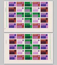 1971 Australia Christmas Stamp Sheet Sc# 508g Vf Mnh 2 Bottom Blocks Of 25