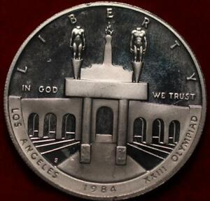 Uncirculated Proof 1984-S Olympiad US Silver Dollar