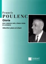 Salabert Poulenc Francis Gloria Chant Piano Classical Sheets Choral and
