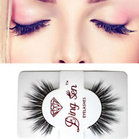 100% Real Min Thick False Eyelashes Makeup Fake Eye Lashes Extension Natural HOT