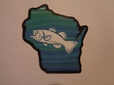 """Fishing Box,Phone,Laptop or Car Vinyl Sticker """" Fish in the water """""""