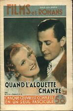 Films et romans 9 - Quand l'alouette chante, film allemand - 1 septembre 1938