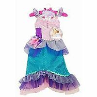 NEW Disney Princess & Me Dress UP Ariel Costume Girls Size 4-6 Halloween Mermaid