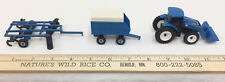 New Holland Toy Tractor Disc Drag & Trailer Set 3 Farm Machinery Front Scoop