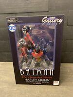 DC Gallery Deluxe Batman TAS Harley Quinn 25th Anniversary PVC Diorama New