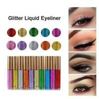 Shiny Metallic Eyeshadow Glitter Liquid Eyeliner Lady Party Makeup Eye Liner New