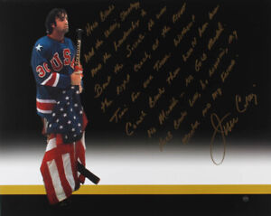 """Jim Craig Signed """"Miracle on Ice"""" Photo with Extensive Herb Brooks Inscription"""