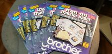 BROTHER IRON-ON TRANSFER PAPER 40 SHEETS Sealed in package