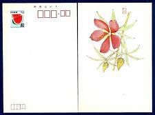JAPAN - GIAPPONE - Intero post. - 1982 - 40Y - Fette di anguria. Flowers