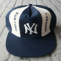 Vintage New York Yankees Mesh Trucker Snapback Hat Cap 90s