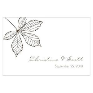 24pk Personalized Autumn Fall Leaf Large Rectangular Tags Wedding Favors