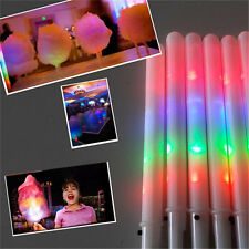 50pcs Kid LED Cotton Candy Cone Floss Glow Sticks Halloween Party 11X0.69in