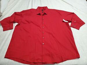 """Mens Big & Tall """"J. Ferrar"""" Classy Dress Shirt Size 20 - 34/35 Maroon"""