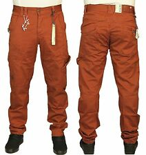 New Mens Eto 333 Brown Jeans Pants Regular Fit Casual Chinos Size 34R RRP £45