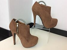 River Island Brown Faux Suede Ankle Boots NEW BNWOB RRP £60 Size 39 Uk 6