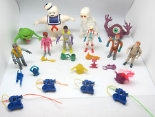 Real Ghostbusters & Fright Feature Action Figures Lot w/Ghosts Vintage 1984-87