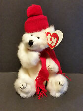 "1993 Ty Plush 8"" Peppermint the Winter Bear"