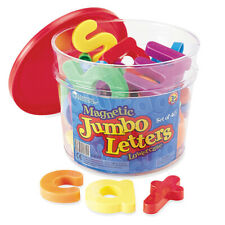 """Learning Resources - Jumbo Magnetic Letters Lowercase 2.5"""" Bucket - 40 Pack"""
