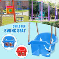 Kids Baby Swing Seat w/ Rope Extensions Playground Equipment Play Toys Set