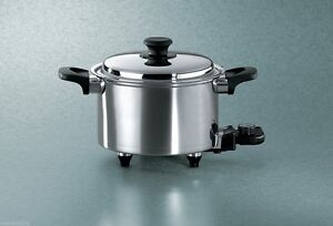 Hammer Stahl Oil Core Slow Cooker 5 Quart Stainless Steel Fast Even Heat USA
