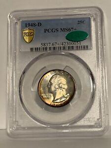 1948-D MS67+ Plus Washington Quarter 25c PCGS CAC