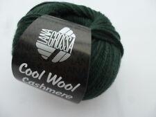 Cool lana cashmere 50g Lana Grossa Lana Merino Con Cachemira 028 VERDE OSCURO