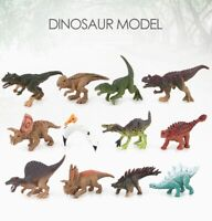 12 pcs Unique Realistic Dinosaur Figures Jurassic Park Dino Toy Assort Lot T-Rex