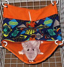 Fleece-lined Pocket Tunnel Hammocks Ferret  Rat Hamster Sugar Glider Gerbil etc