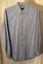EUC KENNETH COLE CLASSIC MENS L LONG SLEEVE BUTTON SHIRT Blue Sz 15 1/2 34-35
