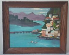Landscape Oil Painting on Board by A. Crowley Artist signed 1962 Framed