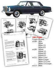 Mercedes Workshop Service Manual w108 w109 w111 w113 280se 3.5 4.5 6.3 300 SEL S
