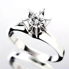 Round Shape Platinum Diamond Engagement Ring 1.00 CT GIA Certified