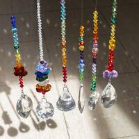 6pcs Handmade Sun Catcher Crystal Prisms Window Hanging Ornament Wedding Decor