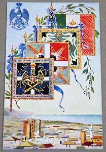 cartolina con stendardi del 29° REGGIMENTO ARTIGLIERIA DA CAMPAGNA