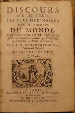 HELIODORE. DISCOURS SUR LES DESORDRES DU MONDE. DES PLAISIRS. 1684.