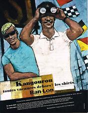 PUBLICITE ADVERTISING  1964   Ban-Lon Kangourou  les shirts polo homme